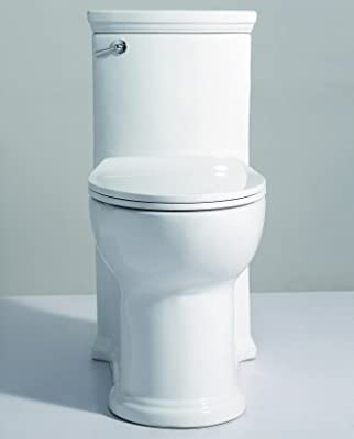 Eago TB364 Universal White Ada Compliant One Piece Single Flush Toilet
