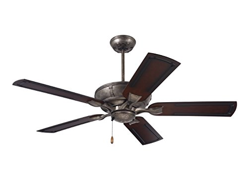 Emerson Ceiling Fans CF610VS Wet Rated Welland Indoor Outdoor Ceiling Fan with 54-inch Blades, Vintage Steel Finish