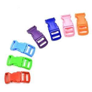"Bluecell 70 PCS 1/2"" Red/Pink/Light Blue/Green/Royal Blue/Purple/Orange Contoured Side Release Plastic Buckles"
