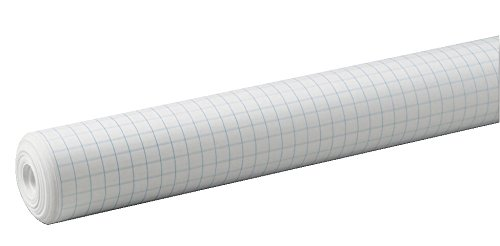 (Pacon 0.5-Inch Grid Paper Roll, White, 34