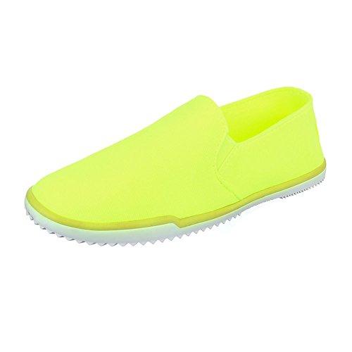 Ital-Design - Tobillo bajo Mujer amarillo neón