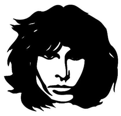 Jim Morrison Rock Band - Sticker Graphic - Auto, Wall, Laptop, Cell, Truck Sticker for Windows, Cars, Trucks