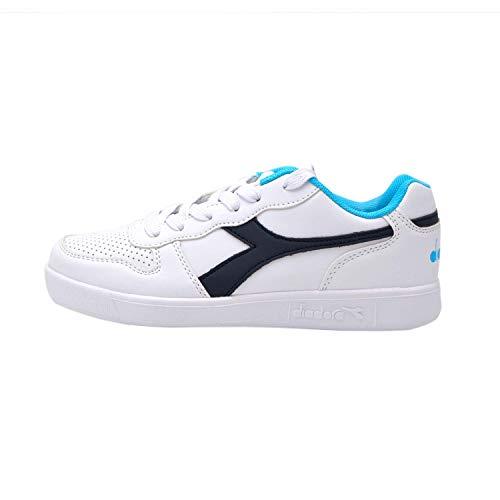 Gs 173301 Diadora Ginnastica blue Bianco Scarpe White Denim C4656 Blu Unisex Da Playground 5q1zOwW4q6