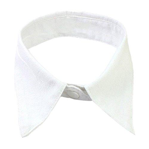 CreazyDog (TM) New Fashion Women Fake Cotton Shirt Collar Detachable Removable Necklace Choker Collar (White)