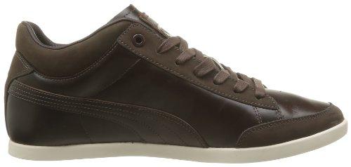 Puma Tarrytown Corduroy - Zapatos de Cordones de cuero hombre marrón - Marron (Chocolate Brown/White Swan)