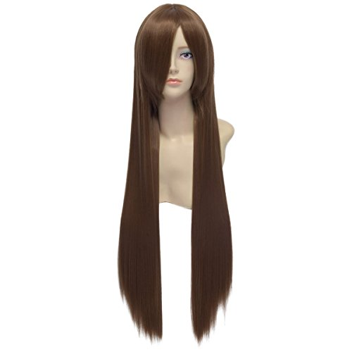 Paixpays brown long straight cosplay fasching party anime wig costume hair wigs (Fasching Costume)