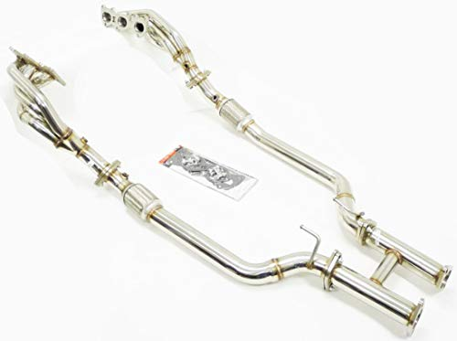 OBX Performance Exhaust Headers Compatible with 10-15 Hyundai Genesis Coupe 3.8L V6 Header Full Length 5Pcs