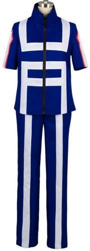 Valecos Cosplay Boku No Hero Academia My Hero Academia Izuku Midoriya Costume Training Suit Uniform Blue (Small)