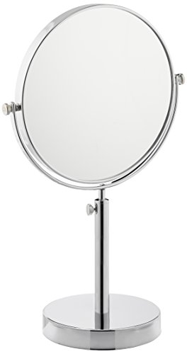 Frasco Mirrors Vanity Stand Double Sided Mirror, Chrome, 3.4 lb.