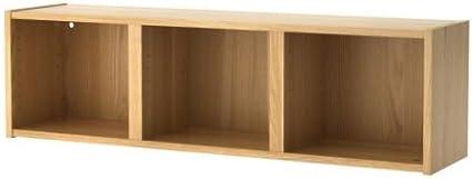 IKEA BILLY - Estantería de pared, chapa de roble - 120x35 cm ...