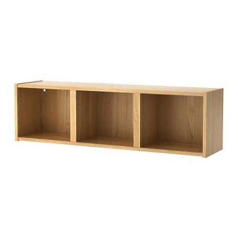 IKEA BILLY - Estantería de pared, chapa de roble - 120x35 cm: Amazon.es: Hogar