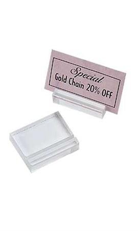 Sprinkles Gifts Wedding Place Price Tag Card Sign Ticket Holder Pack of 50 keep Cards & Tickets in Place Clear Acrylic Card/ticket Holders. 1-1/4'' X 1''w X 3/8.''