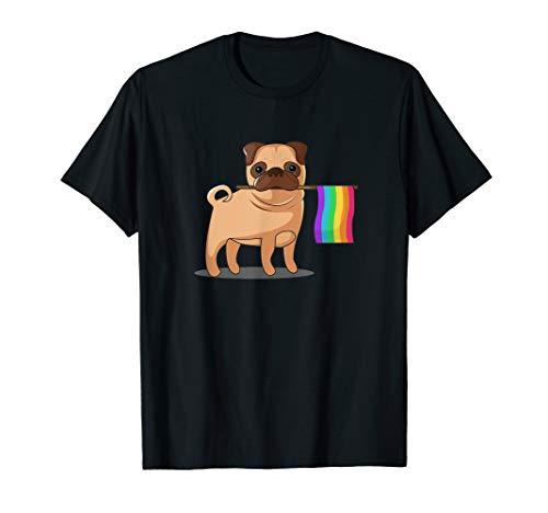 Gay Pride Flag Pug T-Shirt - LGBT Pride Shirt