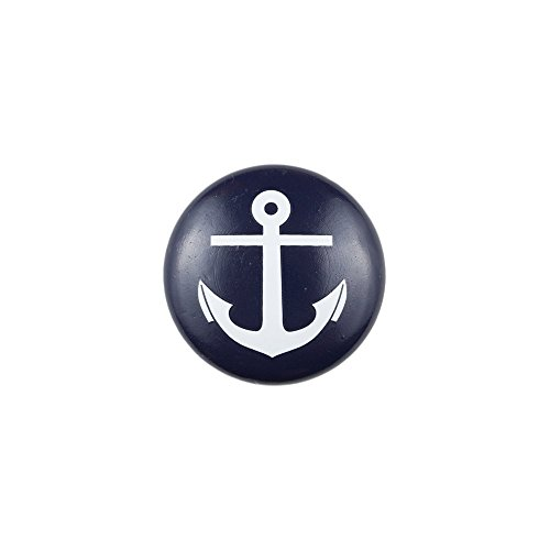 Sumner Street Home Hardware RL061190 Blue Knob with White Anchor