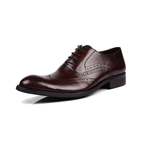 Bullock Scarpe da Uomo in Pelle English Scarpe Business Low Aiuto Scarpe Stringate Casual Stile Europeo E Americano Brown