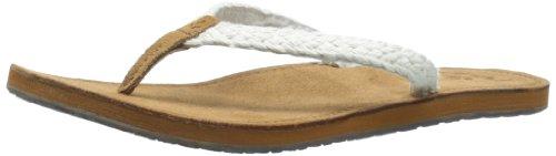 Reef Rubber Sole Sandals (Reef Women's Gypsy Macrame Sandal,Cream,8 M)