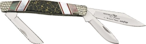 Painted Knife Pony - Buck Knives 301PESLE Painted Pony Stockman Pocket Knife with Pearl & Jasper Handles