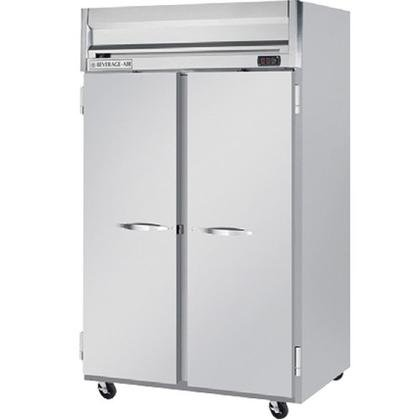 Beverage-Air HRP2-1S Horizon Series Two Sections Solid Door Reach-In Refrigerator 49 cu.ft. capacity Stainless Steel Front and Sides Aluminum