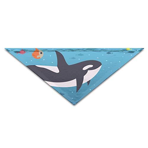 OHMYCOLOR Ocean Sea Orca Killer Whale Dog Bandanas