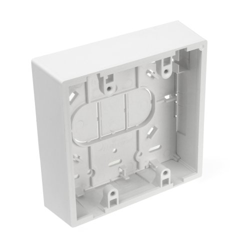 - Leviton 42777-2WB Surface Mount Backbox, Dual Gang, White, 1.45