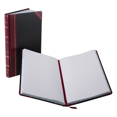 Boorum amp; Pease Record and Account Book with Black and Red Cover