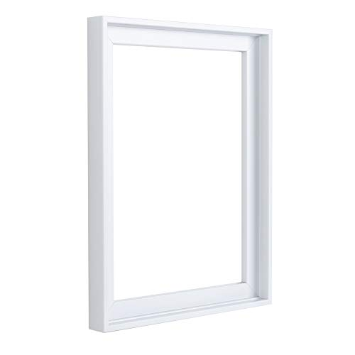 (Floater Frames for Canvas Paintings 16x20 | 6 Colors | Floater Frame for Stretched Canvas, Canvas Panels and Finished Artwork | 1-3/8