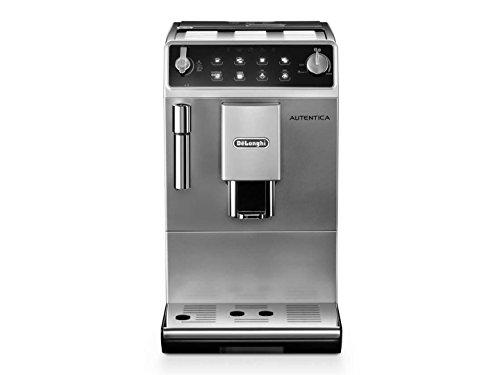 DeLonghi Autentica Super Automatic Espresso Machine with Soft Touch Control Panel, Panarello and Cappuccino System, Stainless Steel, ETAM29510