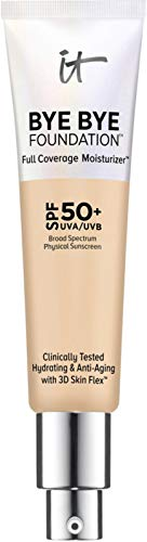 "It Cosmetics Bye Bye Foundation Full Coverage Moisturizer with SPF 50  ""Light Medium"" - 1 Ounce"
