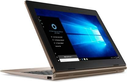 Lenovo IdeaPad D330-10IGM Laptop-Tablet 10.1-inch (2 in 1) Multi-Touch Screen 4GB RAM 64GB Storage Windows 10 Home Integrated Graphics (81H3009TIN)