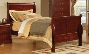 Full Metal Sleigh Bed - ACME Louis Philippe Cherry Full Bed