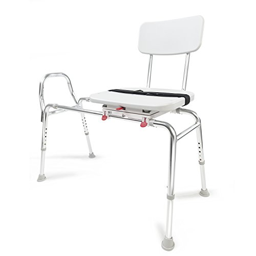 Eagle Health Supplies Swivel Sliding Shower Transfer Bench with Adjustable Height, No Tool Assembly by Eagle Health Supplies (Image #7)