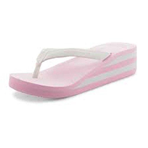 à Dunlop Sandales pink blancs compensés roses talons SddRq1