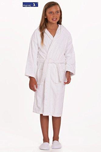 Frottana® Möve Kinder Bademantel Frottee Bademantel 100% Baumwolle Soft White, 4-7 Jahre