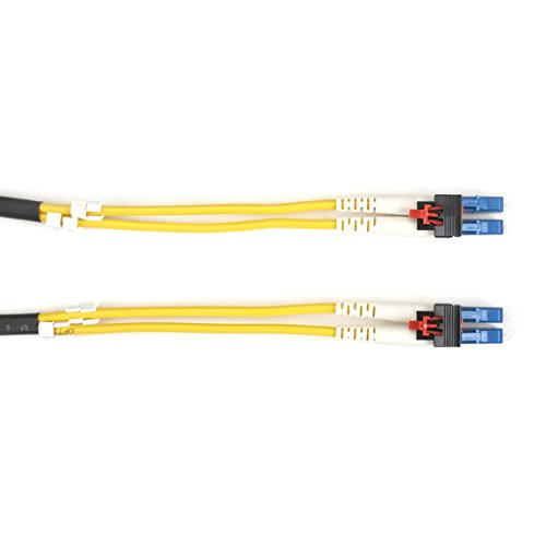 Black Box LockPORT Key Locking Single-Mode, 9-Micron, Duplex Fiber Optic Patch Cable, PVC, LC-LC, 3-m (9.8-ft.) ()