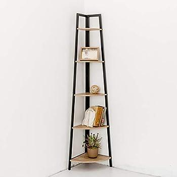 C-Hopetree Corner Shelf Storage - 5 Tier Display - Metal Frame
