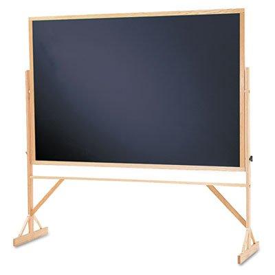 Quartet Reversible Black Melamine Chalkboard, 4 x 6 Feet, Includes Accessory Rail, Hardwood Frame (WTR406-810) by Quartet