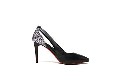 Femme Inconnu Noir Compensées Sandales 1TO9 rtqRtO