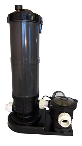 Above-Ground Swimming Pool Cartridge Filter System with 2 Speed Pump 1.5 HP - Filtration 12 Amp