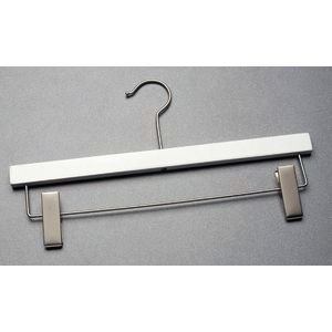 Wooden Pant Hanger 14'' White Case of 100 by Retail Resource