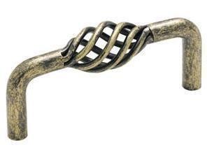 (Box of 30 Weathered Brass Birdcage Oval Cabinet Knob Pulls BP19322-R2 Amerock's