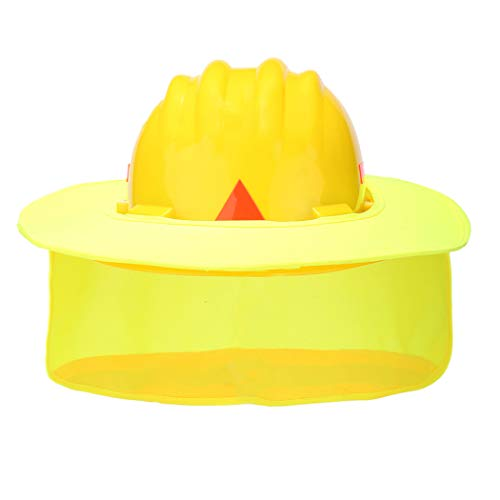 Safety Neck Shield, A-SAFETY, Neck Sun Protection with Reflective Strip and High Visable Polyester Fabric Design for Hardhats/Helmet Construction Fluorescent Yellow