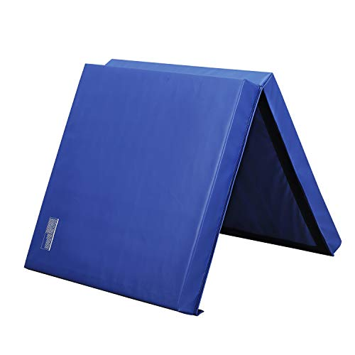 "HYD-Parts Folding Thick 6'x3'x4"" Gymnastics Tumbling Mats,Blue Color"