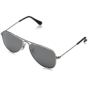 Ray Ban RJ9506S 212/6G Jr. Aviator Junior (Toddler/Kid) - Shiny Silver - 50 mm