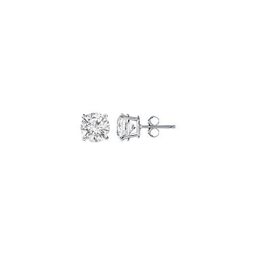 Half Carat April Birthstone Diamond Stud Earrings Gold