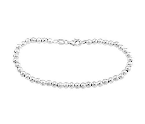 Sterling Silver Ball Bracelet Bead Bracelet (5mm) by Lgu