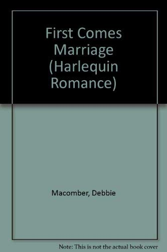 3113 Series - First Comes Marriage (EasyRead Print) (Harlequin Romance, No 3113)
