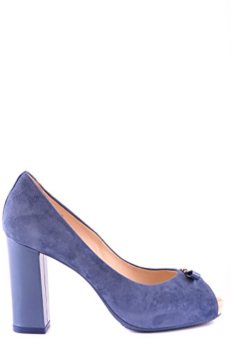 Hogan Blue MCBI148073O Women's Pumps Suede WSqz8S7wxA