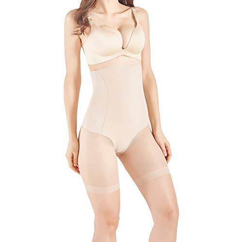 - ROBERT MATTHEW Womens Shapewear Tummy Control Shorts Visionary High-Waist Panty Mid-Thigh Body Shaper Bodysuit - MRSP $49.99 Nude