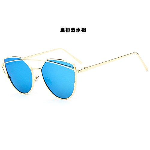 d28686d61a De bajo costo Sunyan Gafas de sol con flores y jóvenes coreanos nueva ronda  de metal