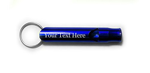 Hat Shark Customized 3D Laser Engraved Personalized Custom Whistle Key Chain Gift (Blue) -